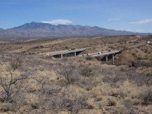 The bridge over Davidson Canyon allows wildlife to cross under Interstate 10 (©Matt Clark)