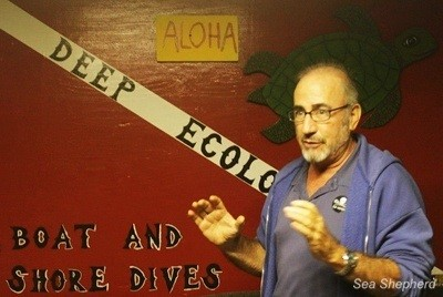 Sea Shepherd Vice-President Robert Wintner is a veteran campaigner against the aquarium trade and its devastating impact on Hawaii reefs. Photo: Deb Bassett / Sea Shepherd