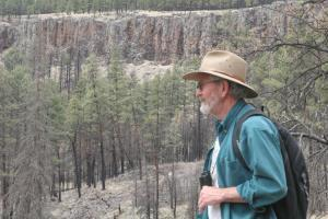 """Dave at the """"Green Fire"""" site"""