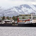 The Winter Bay, currently in Tromsø, is carrying 1,700 tonnes of endangered Fin whale meat, en route to Japan. Photo: Giacomo Giorgi