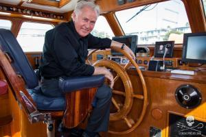 Martin Sheen aboard Sea Shepherd research vessel R/V Martin Sheen.