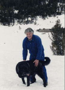 George with Arne, the dog, photo credit: Casey Walker