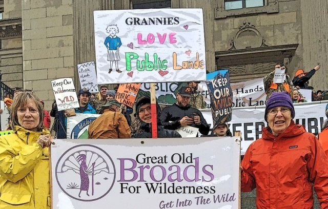 Boise Broadband at public lands rally
