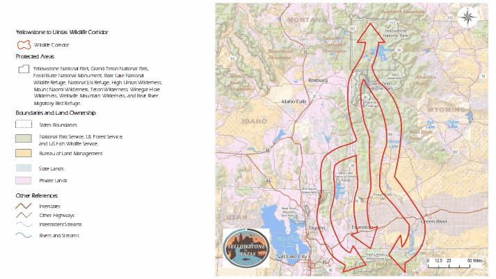 Yellowstone to Uintas Corridor Map