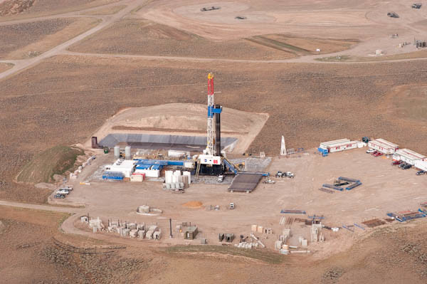 Oil and gas develpment from the air near Pinedale, Wyoming (c) George Wuerthner