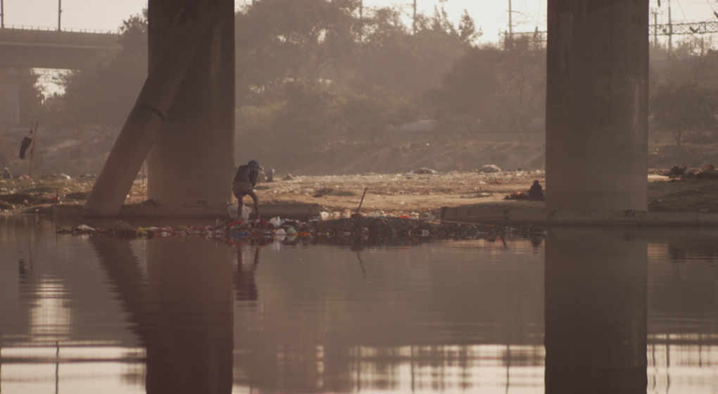 Horrendous pollution in the Yamuna River which flows through the heart of Delhi, the 3rd largest city in the world with more than 26 million residents. (Photographed during 8 Billion Angels filming in India.)