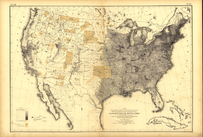 1870 U.S. Population Density, U.S. Census Bureau