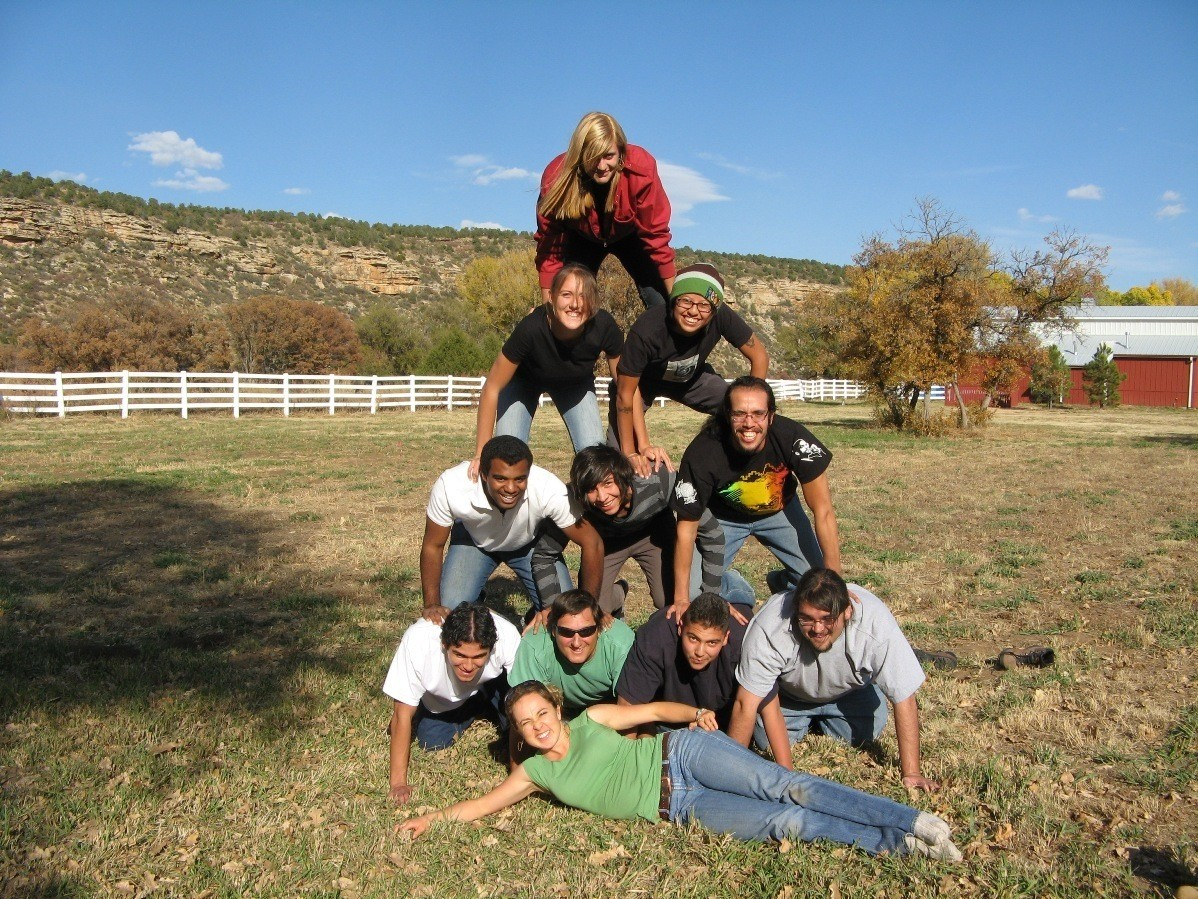Students in 4C Retreat Pyramid (c) Brian Miller