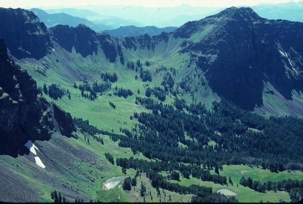Mount Blackmore, Gallatin Range, Gallatin National Forest, Montana © George Wuerthner