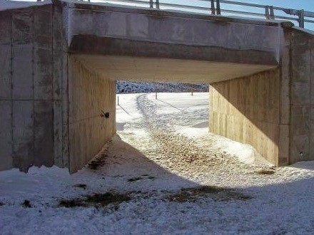 The Baggs Underpass is about six miles north of Baggs on WYO 789 at reference marker 45. WYDOT's wildlife biologist has been monitoring this underpass since October 2009.