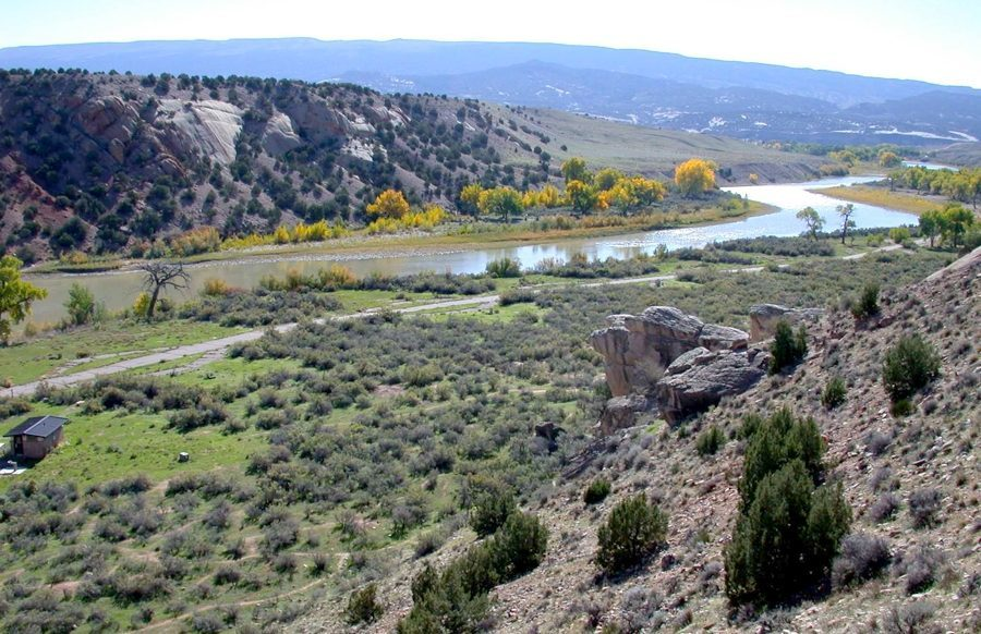 Green River at Split Mountain Campground, NPS