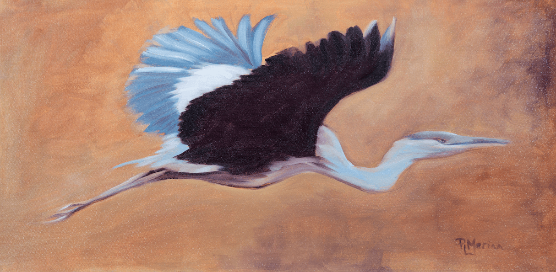 Flight: Blue Heron © Patricia Leahey Meriam