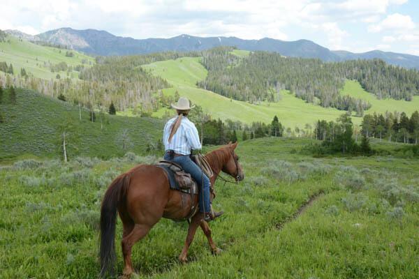 Horse Riders, Teepee Creek, Buffalohorn area of Gallatin Range, Montana © George Wuerthner