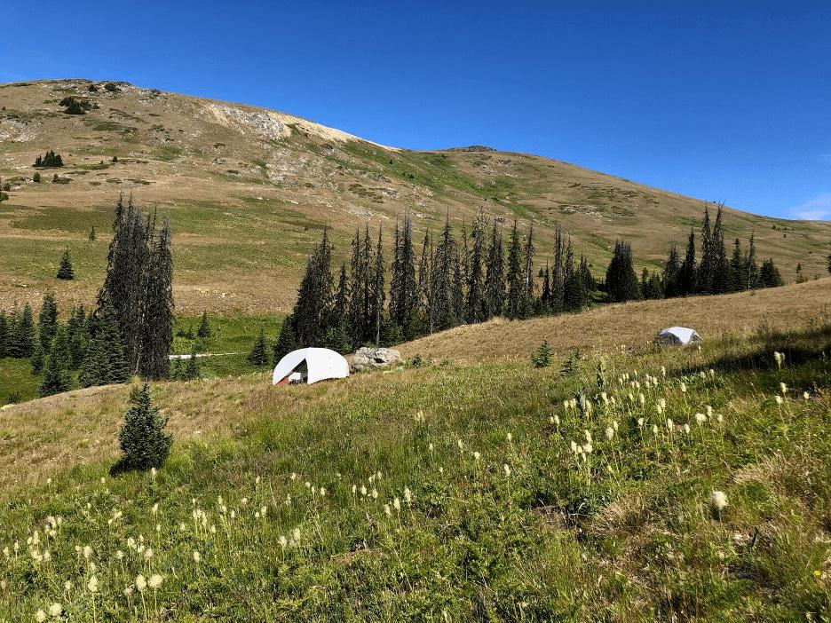 Camping near Ashnola Mountain