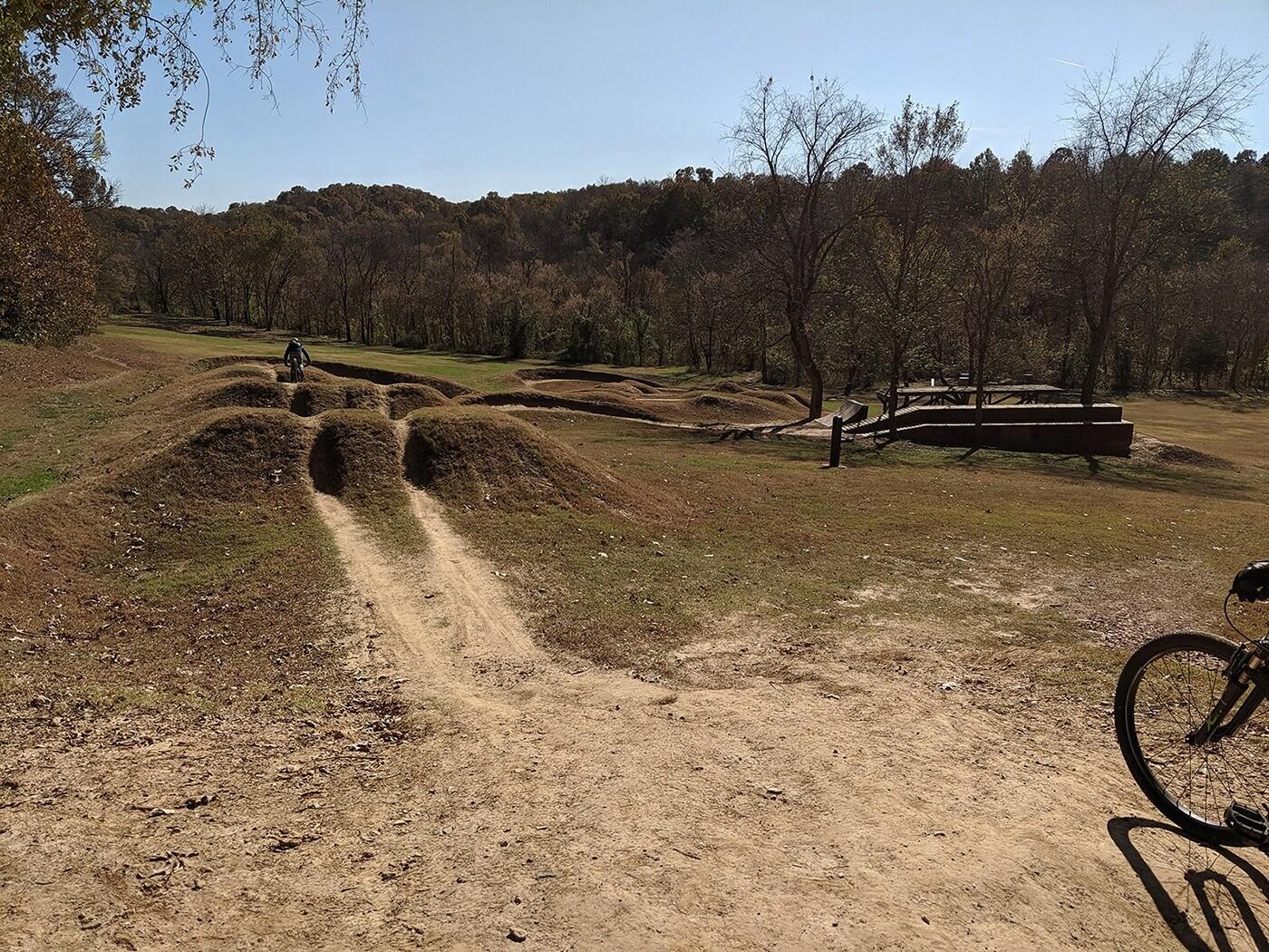A bike park in Bentonville, AR.