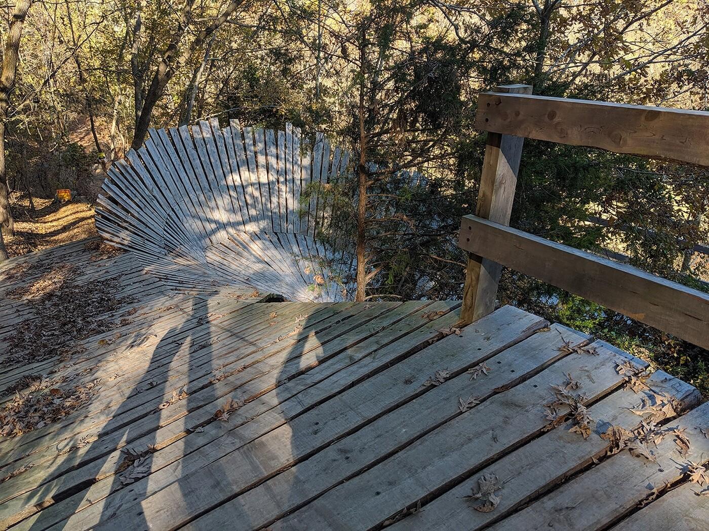 A freeride trail in Bentonville, AR.