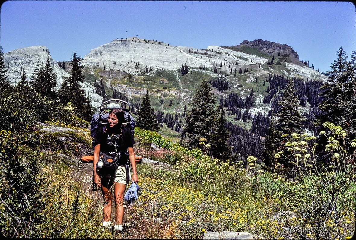 Nancy backpacking in the Marble Mountains Wilderness Area, summer of 1983 © Dave Foreman