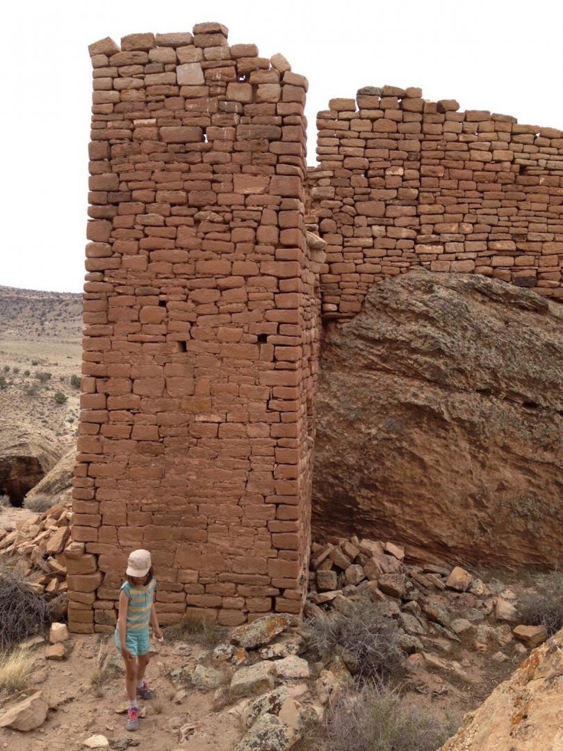 Photo of 1,000-year-old standing walls on one of the acquired private inholdings on Hamilton Mesa. (Photo credit: Mark Pearson)