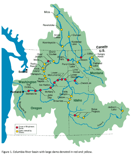 Columbia River basin figure 1