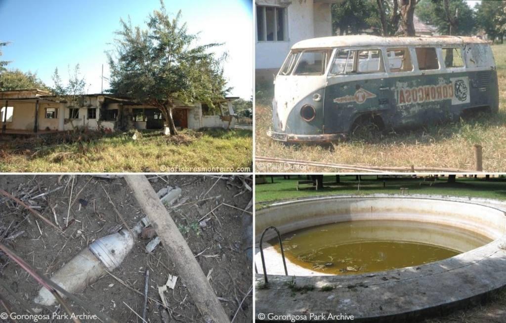 Devastation – historic Chitengo Camp in ruins