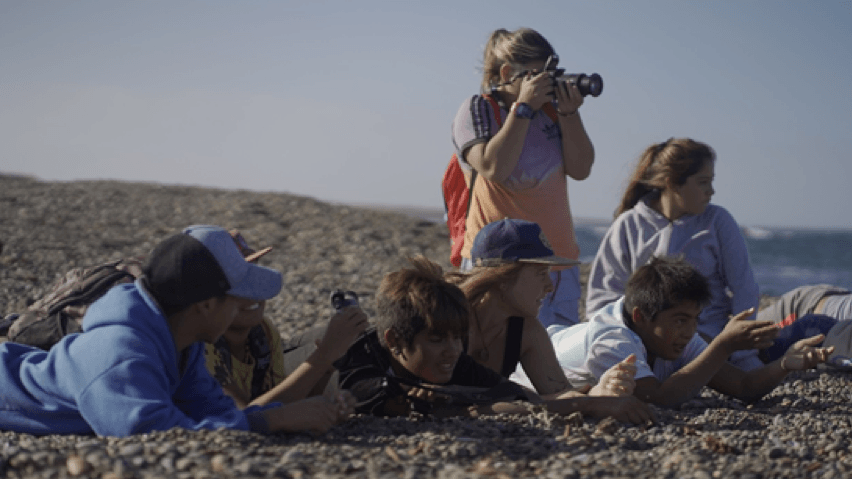 Sea Club participants during a bird watching activity