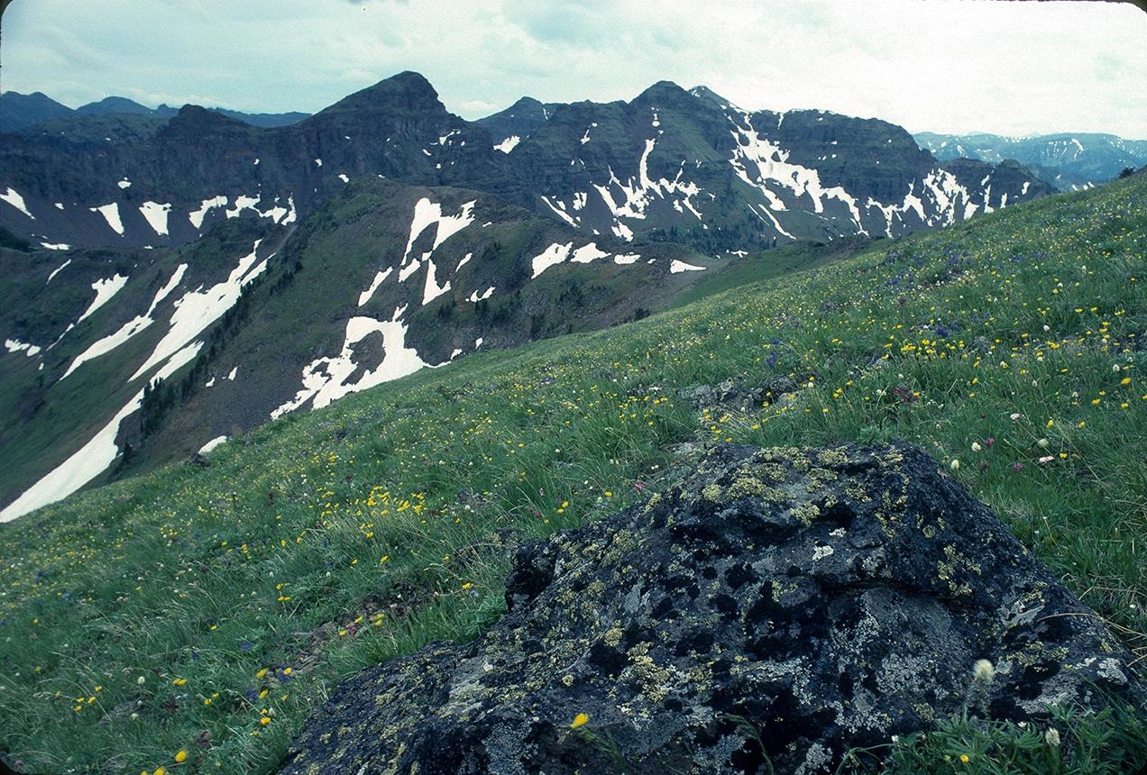Hyalite Peak from Mount Blackmore, Gallatin Range, Custer Gallatin NF, Montana