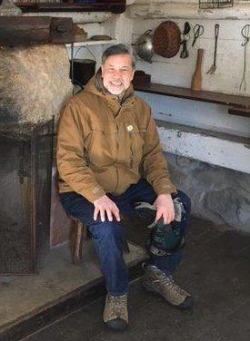 Dennis Liu in Aldo Leopold's shack