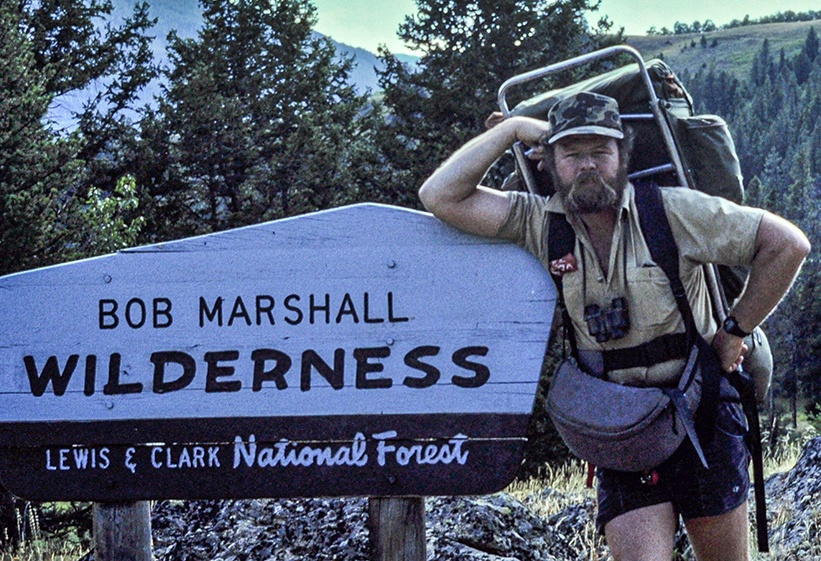 Dave Foreman in Bob Marshall Wilderness Area.