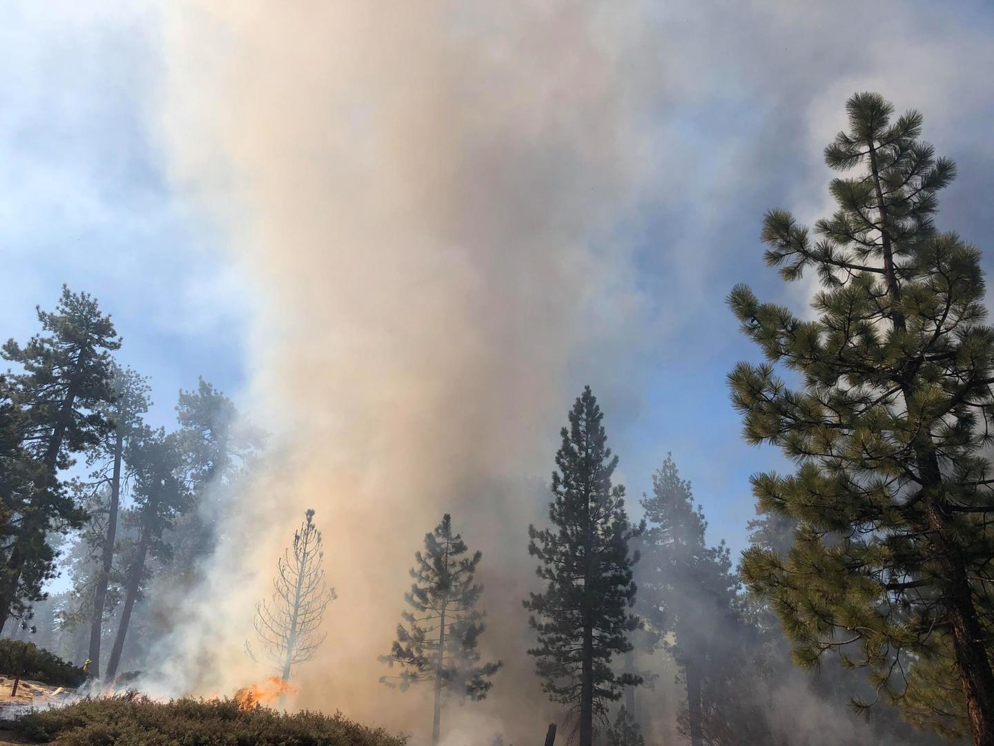 Landscape-wide prescribed fire could result in ten times as much smoke. (Source: USFS)