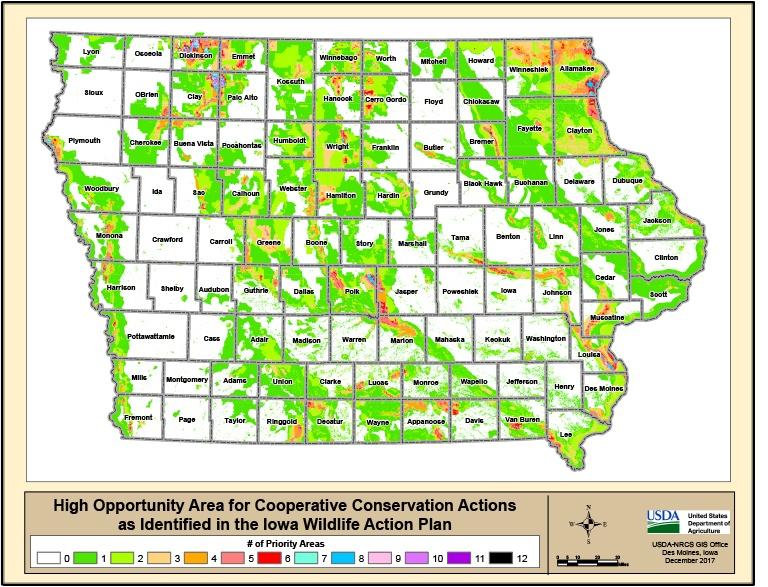 from Iowa's 2017 DNR Wildlife Action Plan