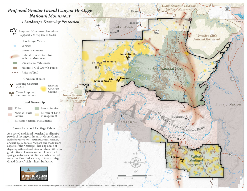 Proposed Greater Grand Canyon Heritage National Monument (Map)