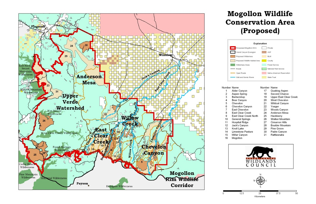 Mogollon Wildlife Conservation Area (Proposed)